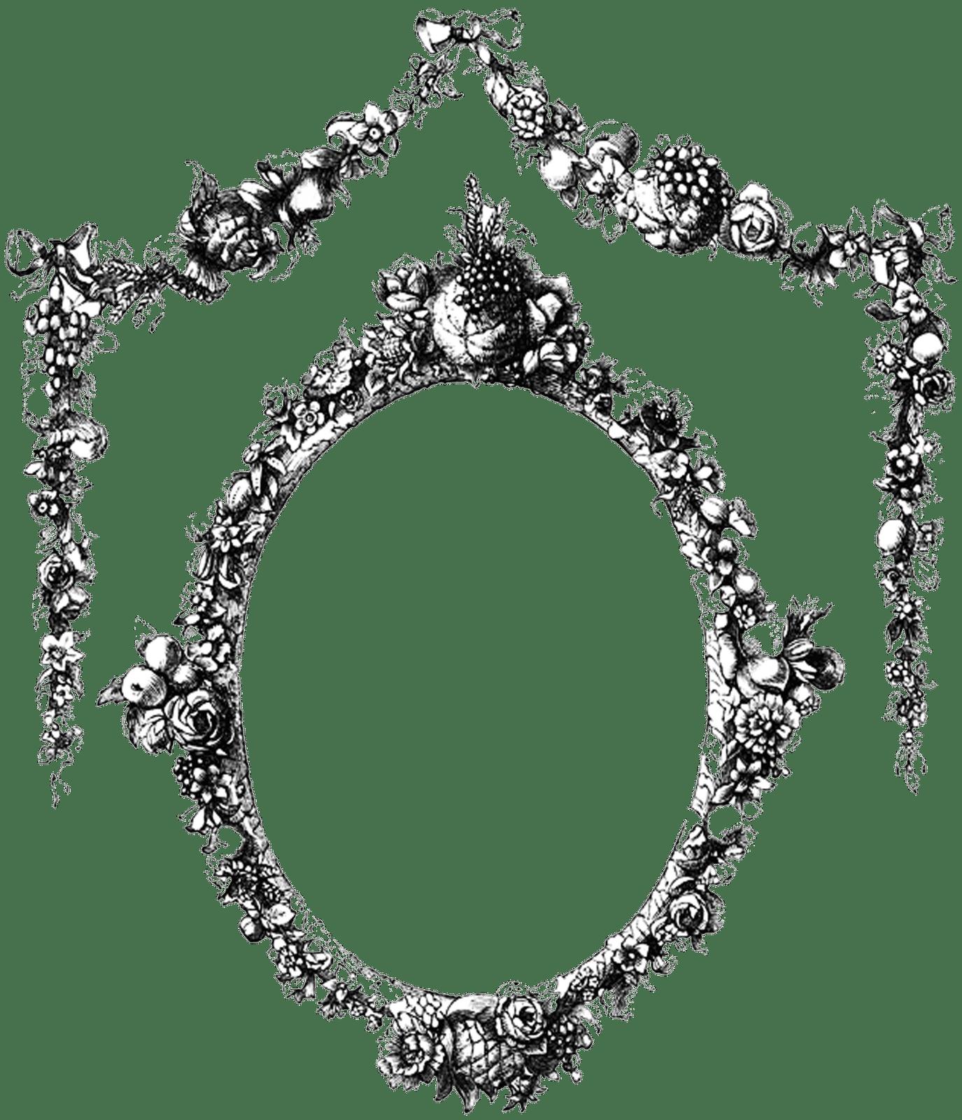 Vintage Ornate Circle Frame transparent PNG - StickPNG