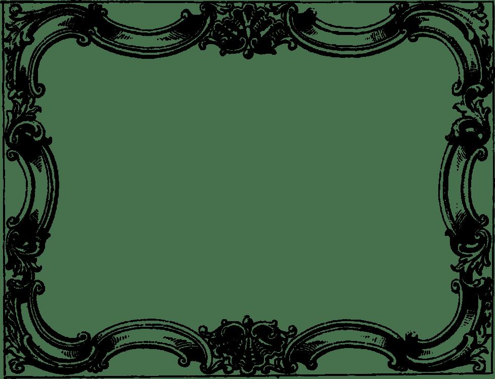 vintage rectangle frame with border transparent png stickpng
