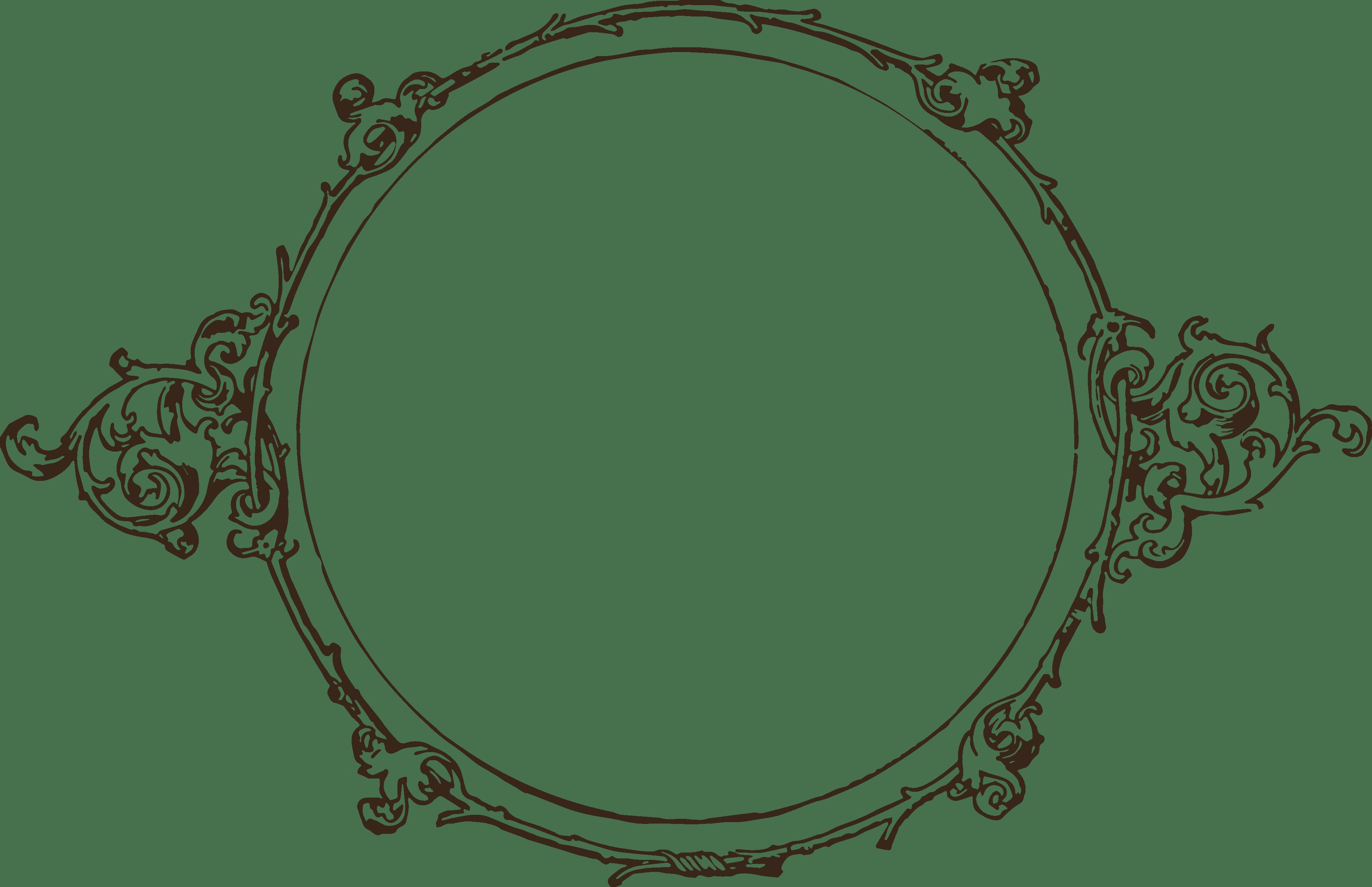 Simple Circle Frame transparent PNG - StickPNG