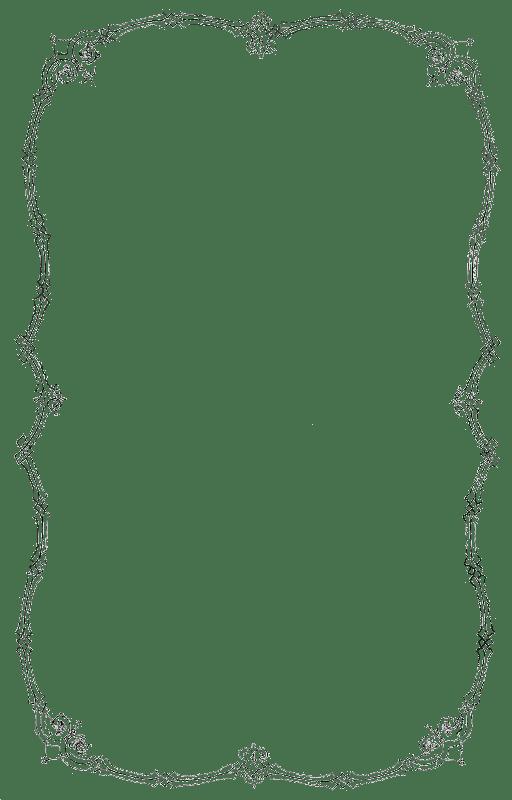 Thin Portrait Vintage Frame transparent PNG - StickPNG