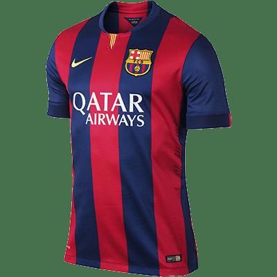 Fc Barcelona Home Kit Transparent Png Stickpng