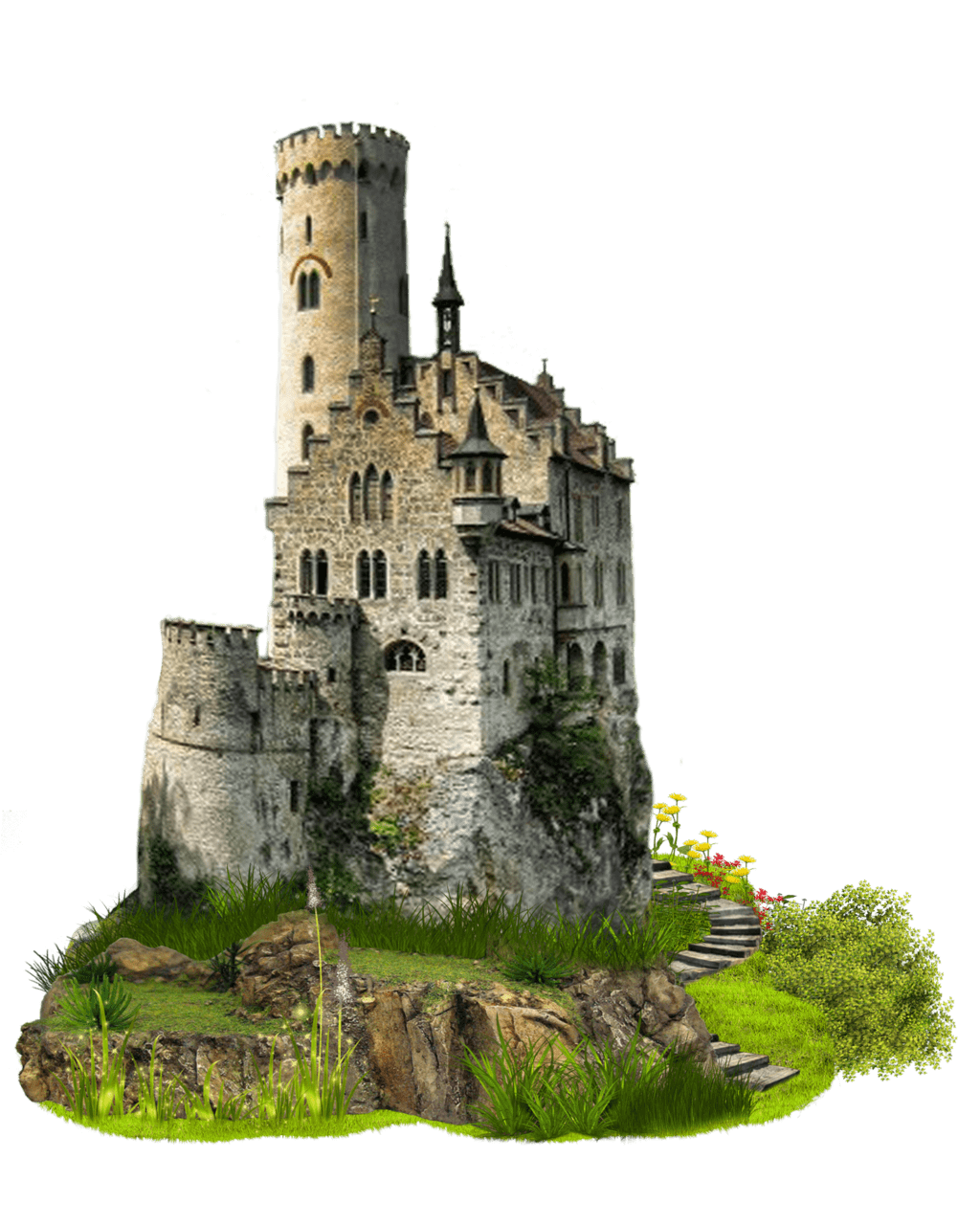 Medieval castle transparent png stickpng for Png home designs