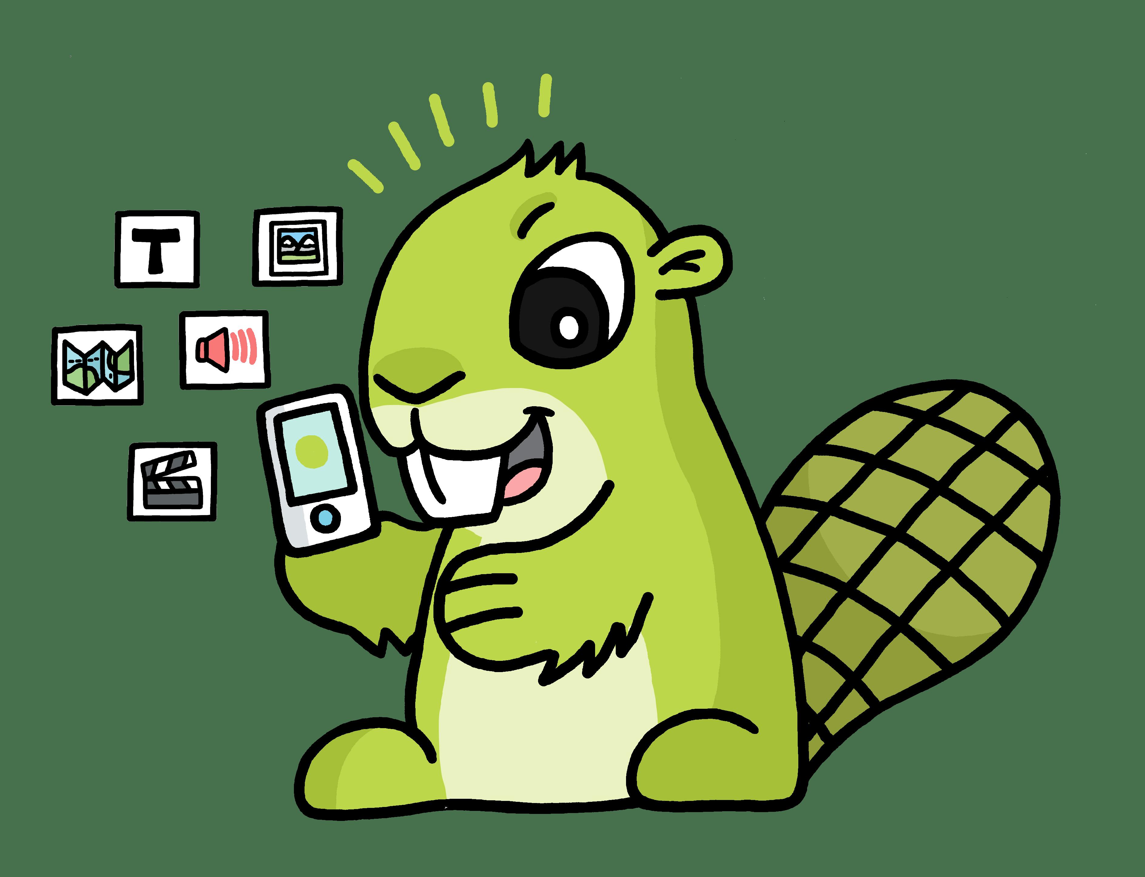 app beaver adsy transparent png stickpng