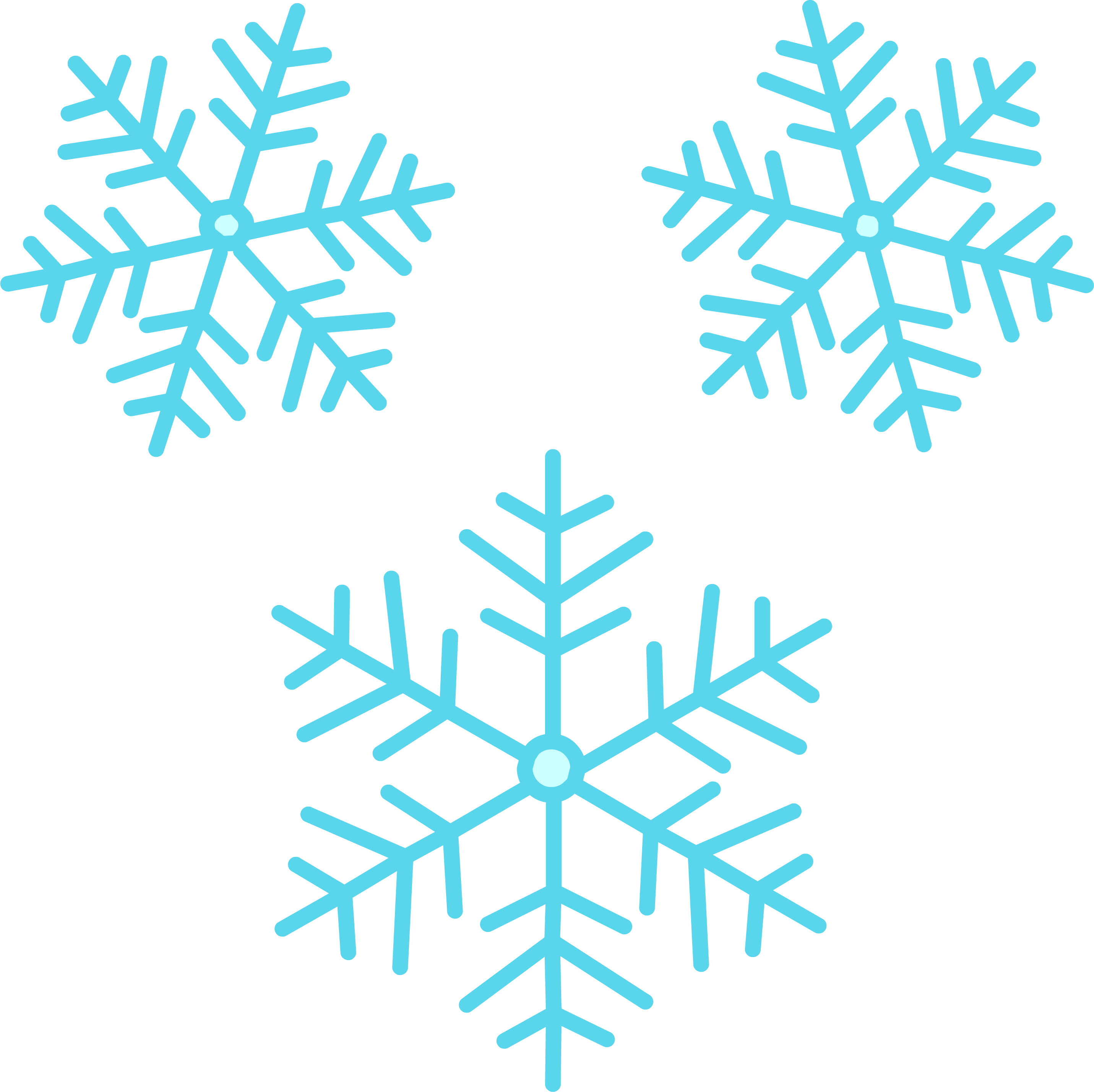 Best Snowflake Png #6972 - Clipartion.com   Blue Snowflakes Png