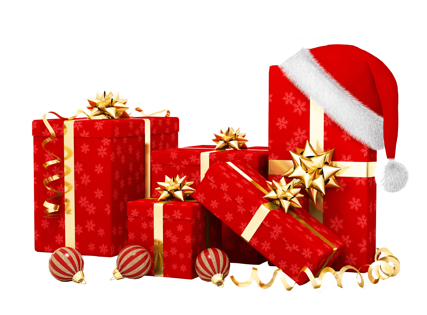 Transparent christmas gifts png images