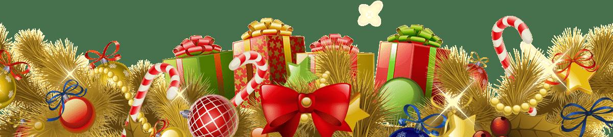 Beautiful Christmas Footer Gifts Balls Gold transparent PNG - StickPNG
