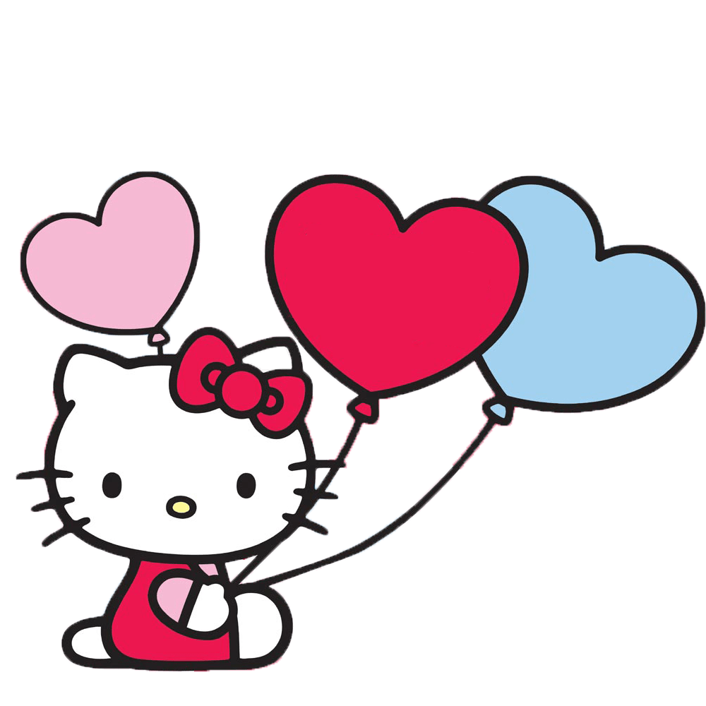 hello kitty with balloons transparent png stickpng happy birthday clipart best friend happy birthday old friend clipart