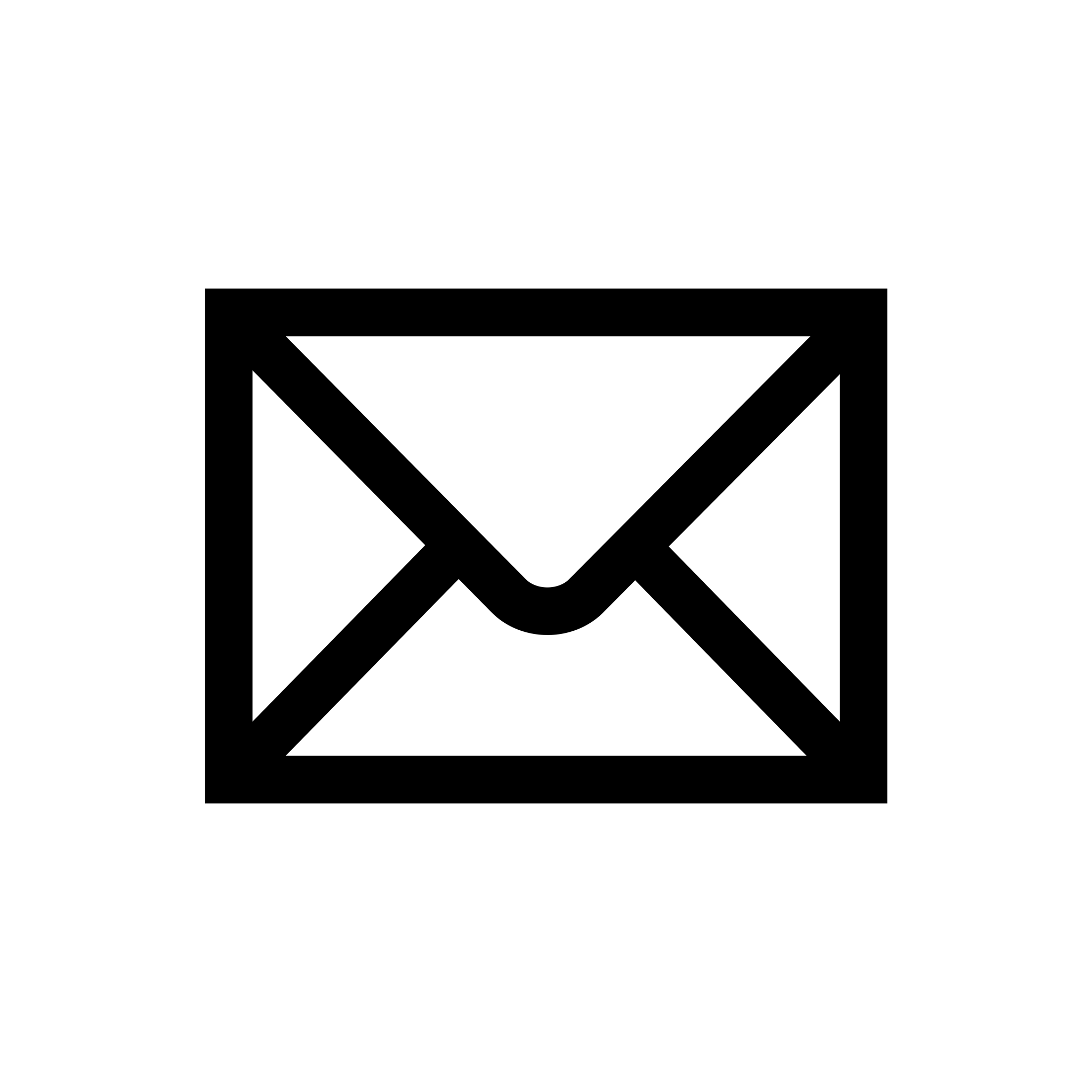 Email Icon Black Simple transparent PNG - StickPNG