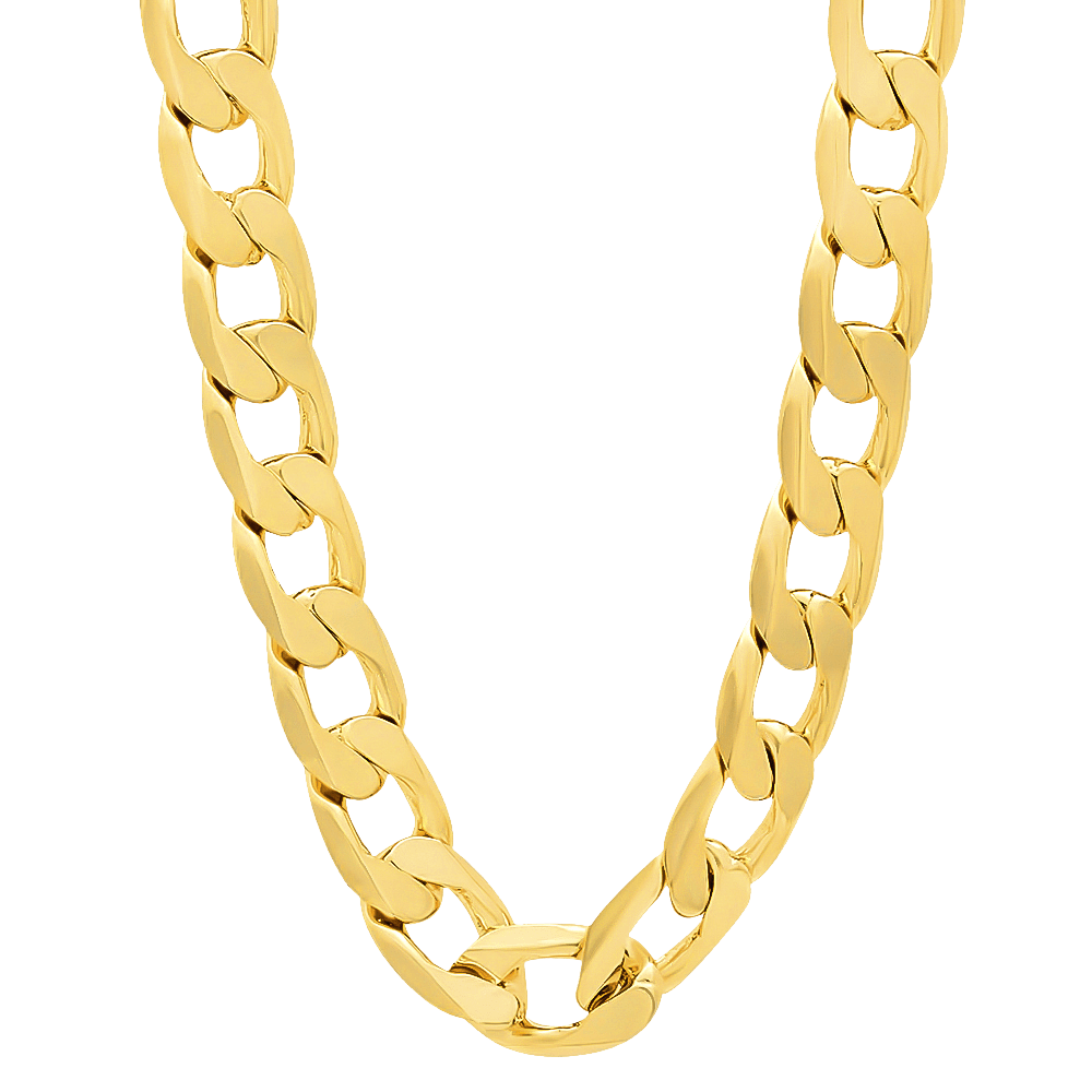 franco real hollow mens chains large chain gold wheat inch yellow