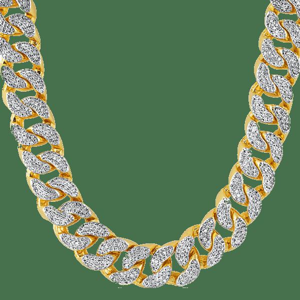 thug life gold chain diamonds transparent png stickpng