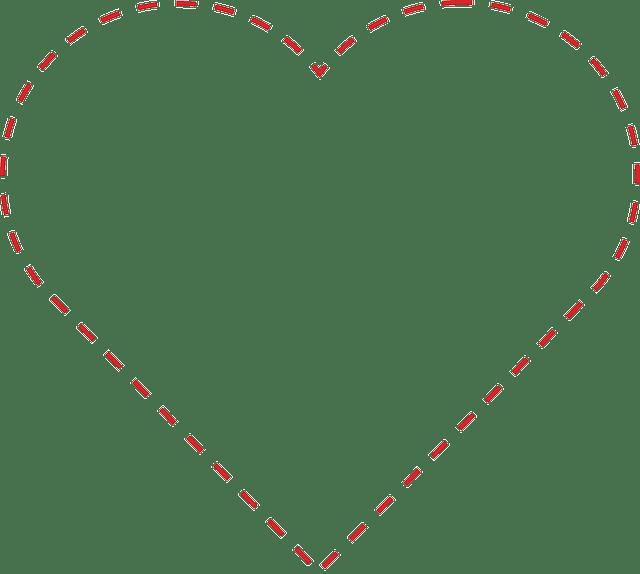 heart outline dotted transparent png stickpng