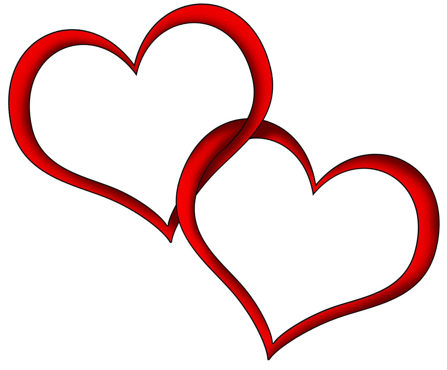 Heart outline couple red transparent png stickpng heart outline couple red buycottarizona Image collections