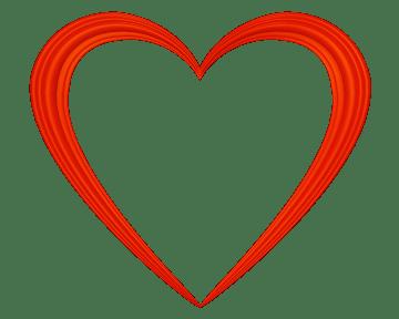 heart outline love symbol transparent png stickpng