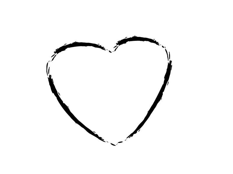 heart outline sketch transparent png stickpng