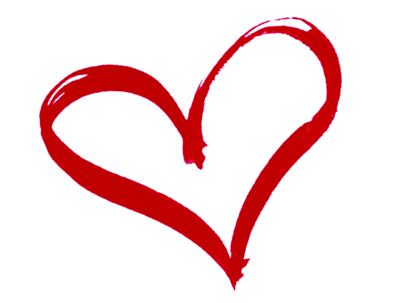 Heart Outline Drawing Red Transparent PNG - StickPNG