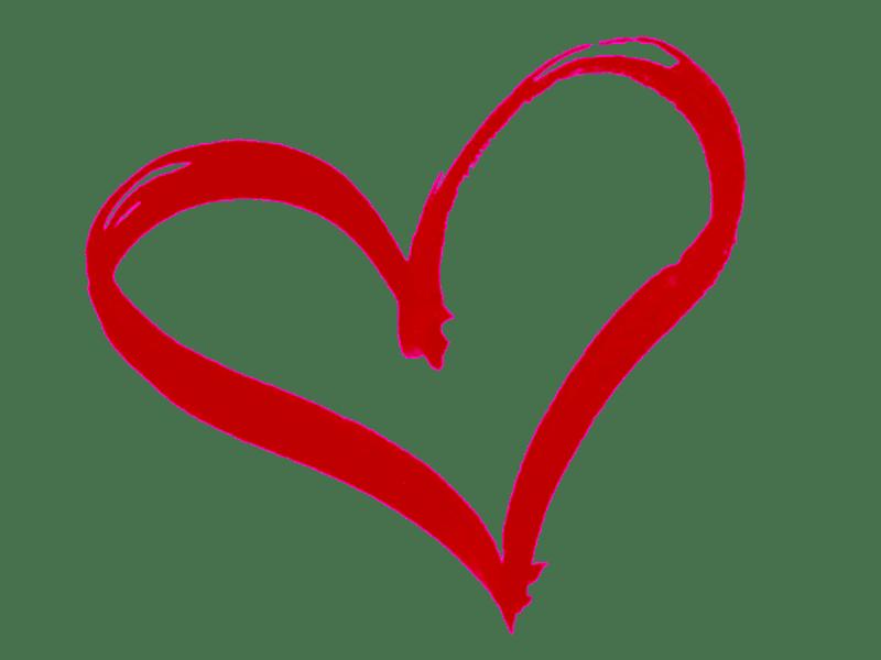 Contour De Cœur Dessin Rouge Png Transparents Stickpng