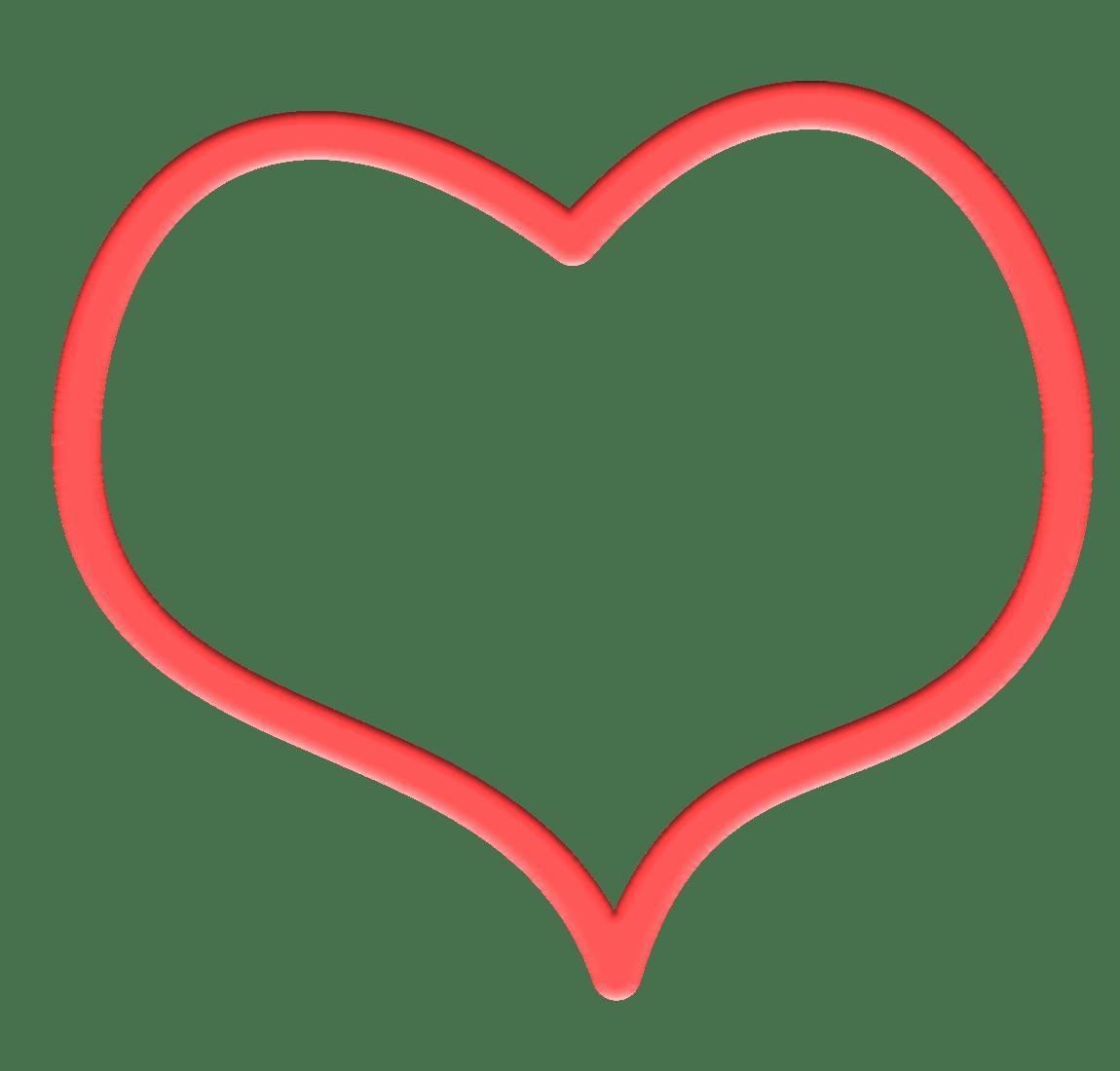 Contour De Cœur Rouge Dessin Png Transparents Stickpng