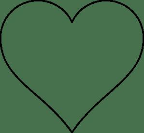 heart outline thin black transparent png stickpng
