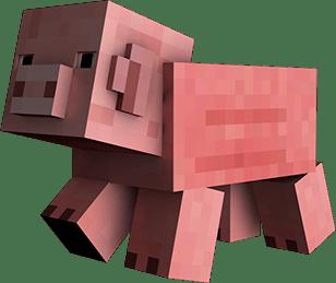 Large Minecraft Pig Transparent Png Stickpng