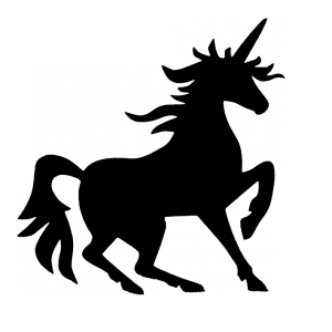 Unicorn Silhouette transparent PNG - StickPNG