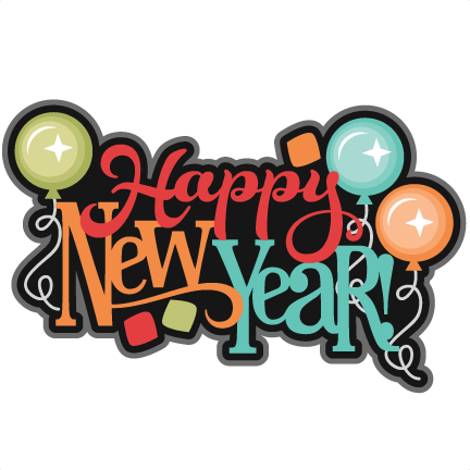 Happy New Year Balloons Colourful Transparent Png Stickpng