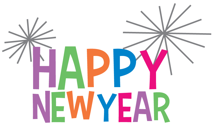 Happy New Year Clipart Colourful transparent PNG - StickPNG