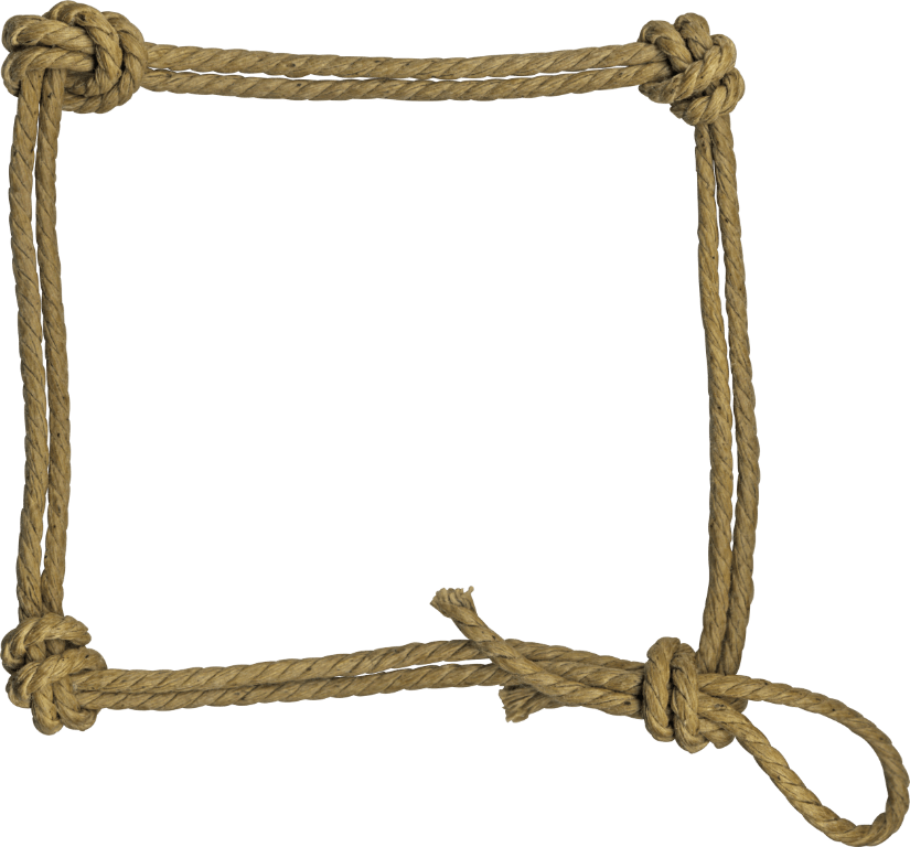 Rope frame rough transparent png stickpng Rope photo frame