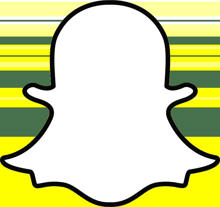 snapchat ghost outline transparent png stickpng