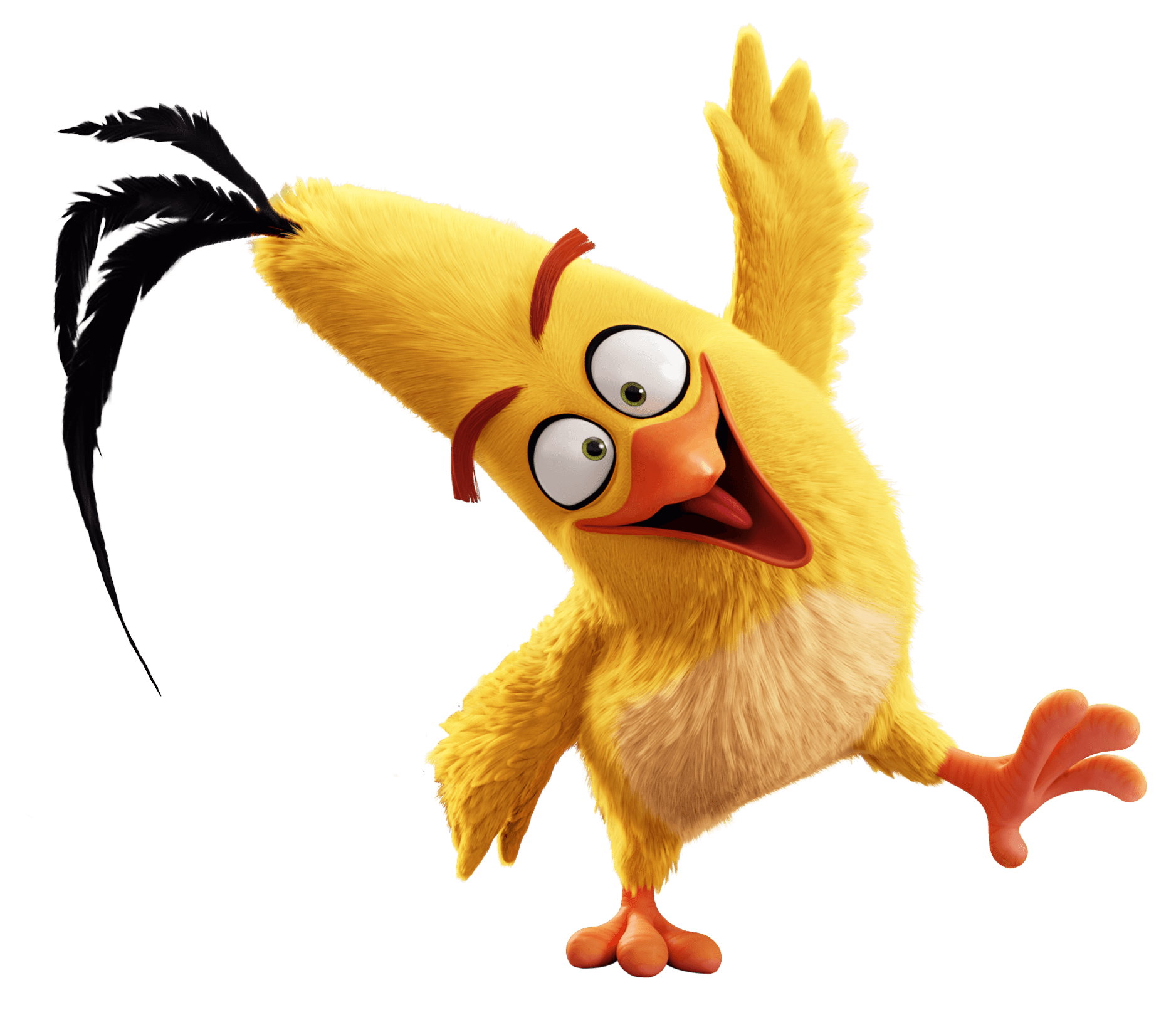 angry birds chuck transparent png stickpng