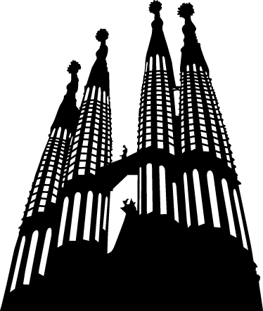 Sagrada Familia Clipart Silhouette Transparent Png Stickpng
