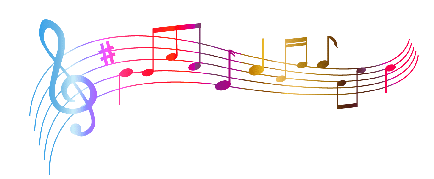 Music Notes Colourful transparent PNG - StickPNG  Music Notes Col...