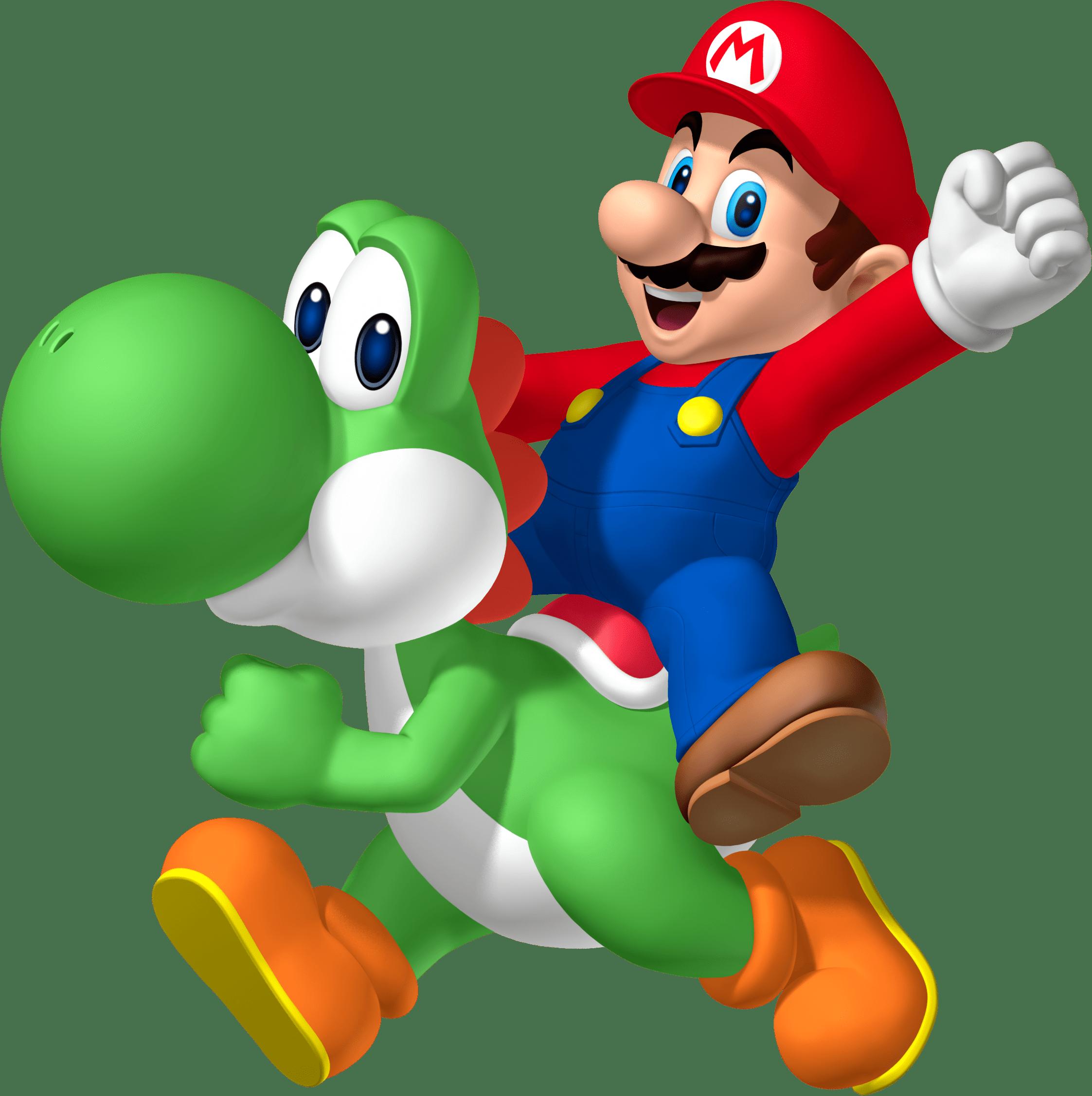 Mario Riding Yoshi Transparent Png Stickpng