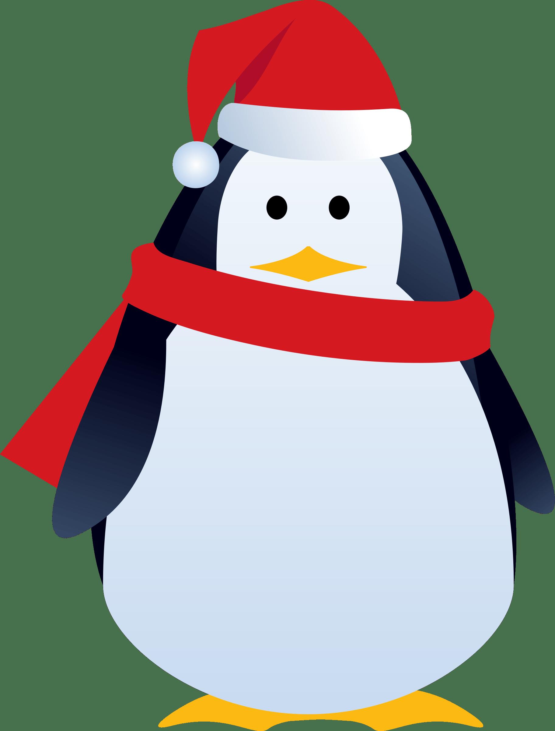 christmas penguin cartoon transparent png stickpng