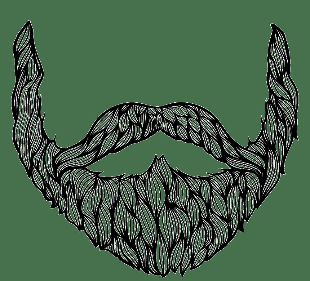 Line Art Transparent Background : Beard drawing transparent png stickpng