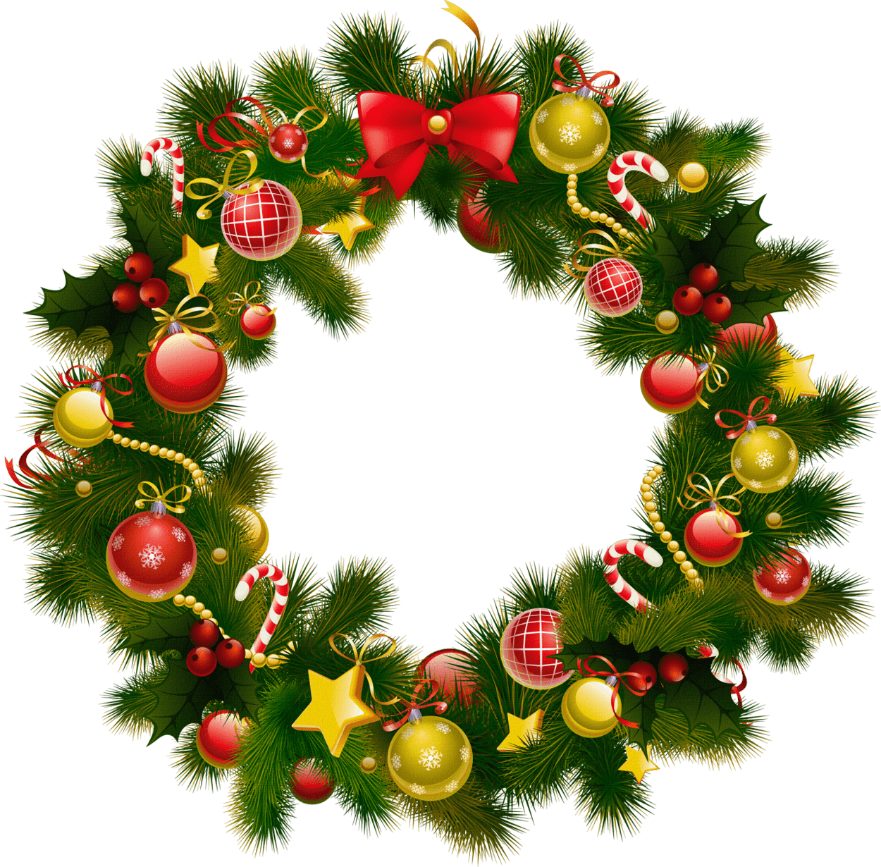 Christmas Wreath Png.Simple Christmas Wreath Transparent Png Stickpng