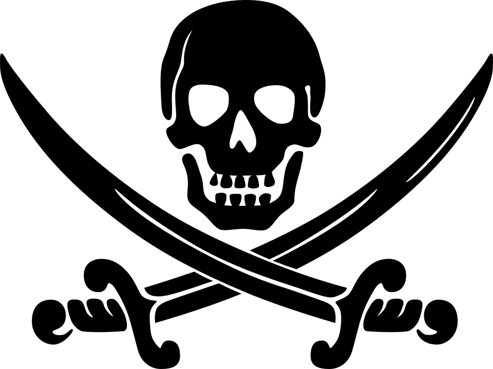 Pirates Swords Skull Transparent Png Stickpng