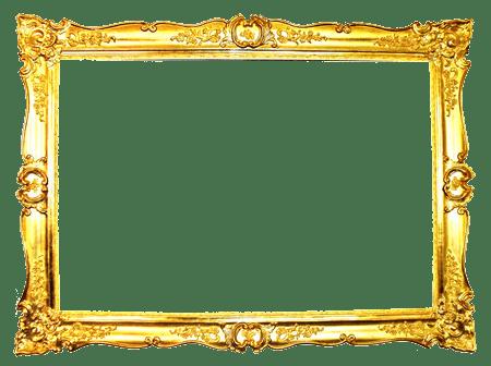 ornate gold frame transparent png stickpng