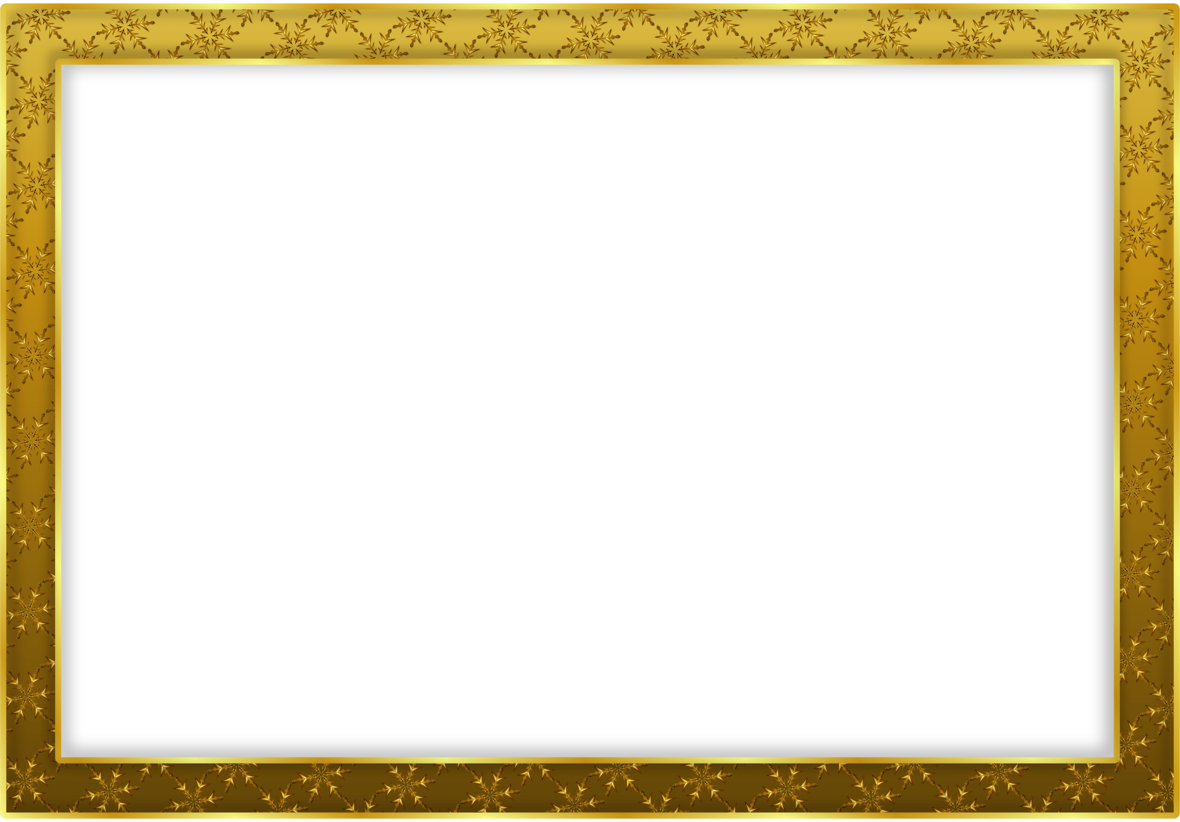 Simple Gold Frame Landscape transparent PNG - StickPNG