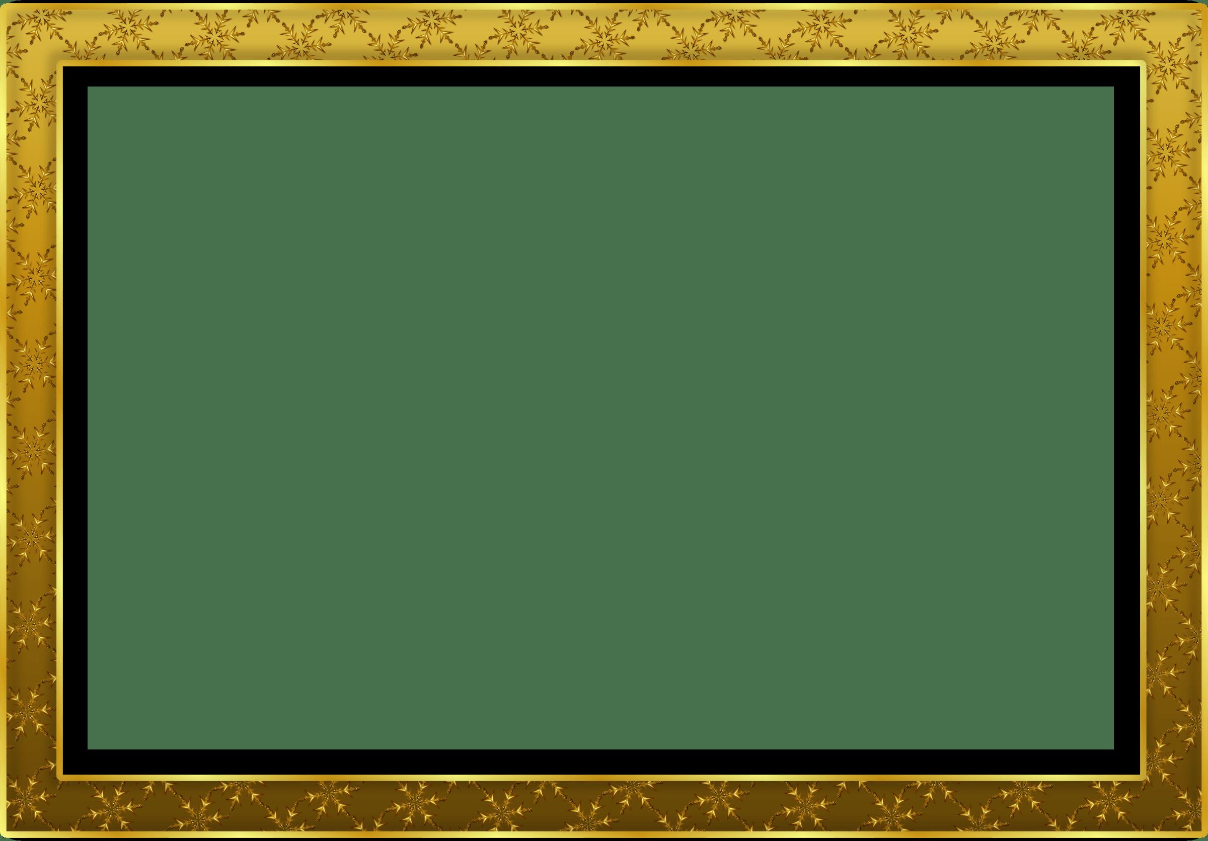 Simple Gold Frame Landscape transparent PNG - StickPNG