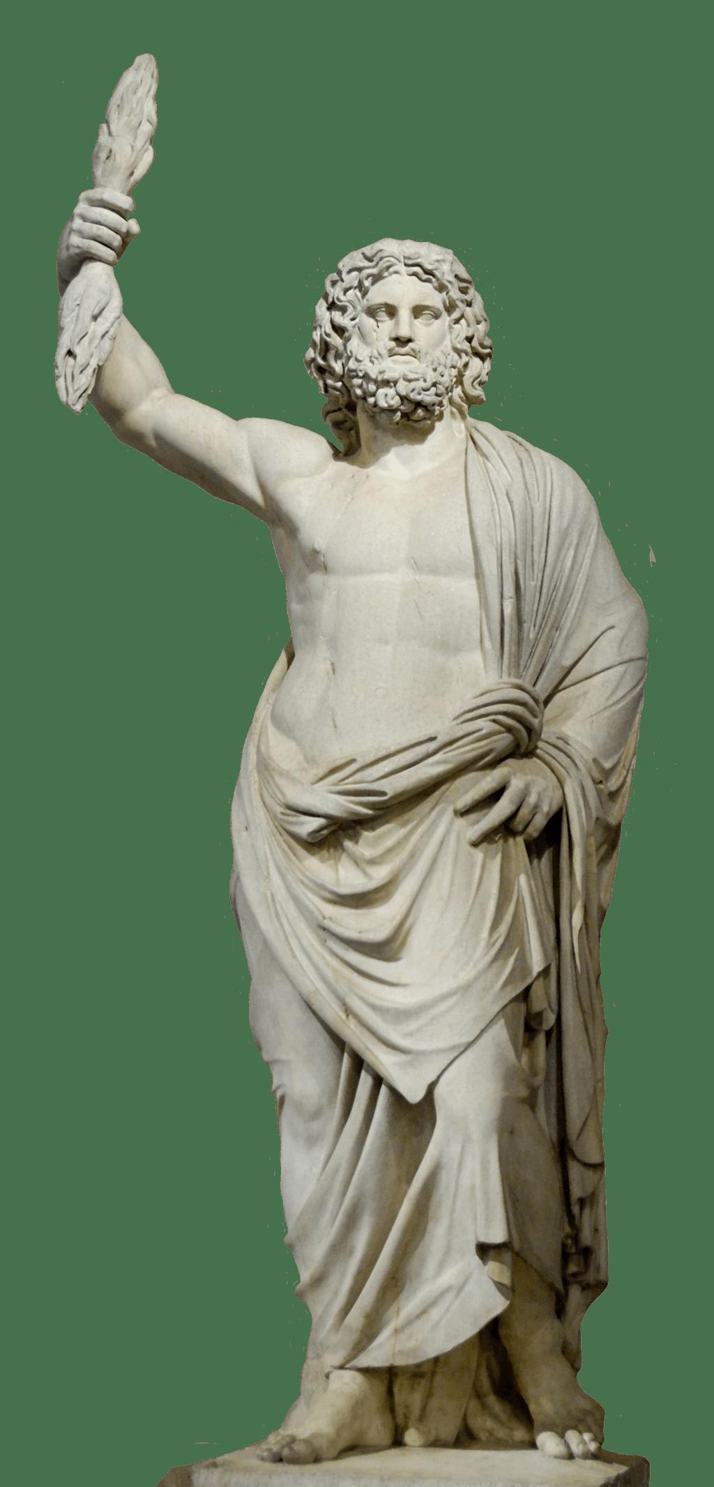 Zeus Statue Transparent Png Stickpng