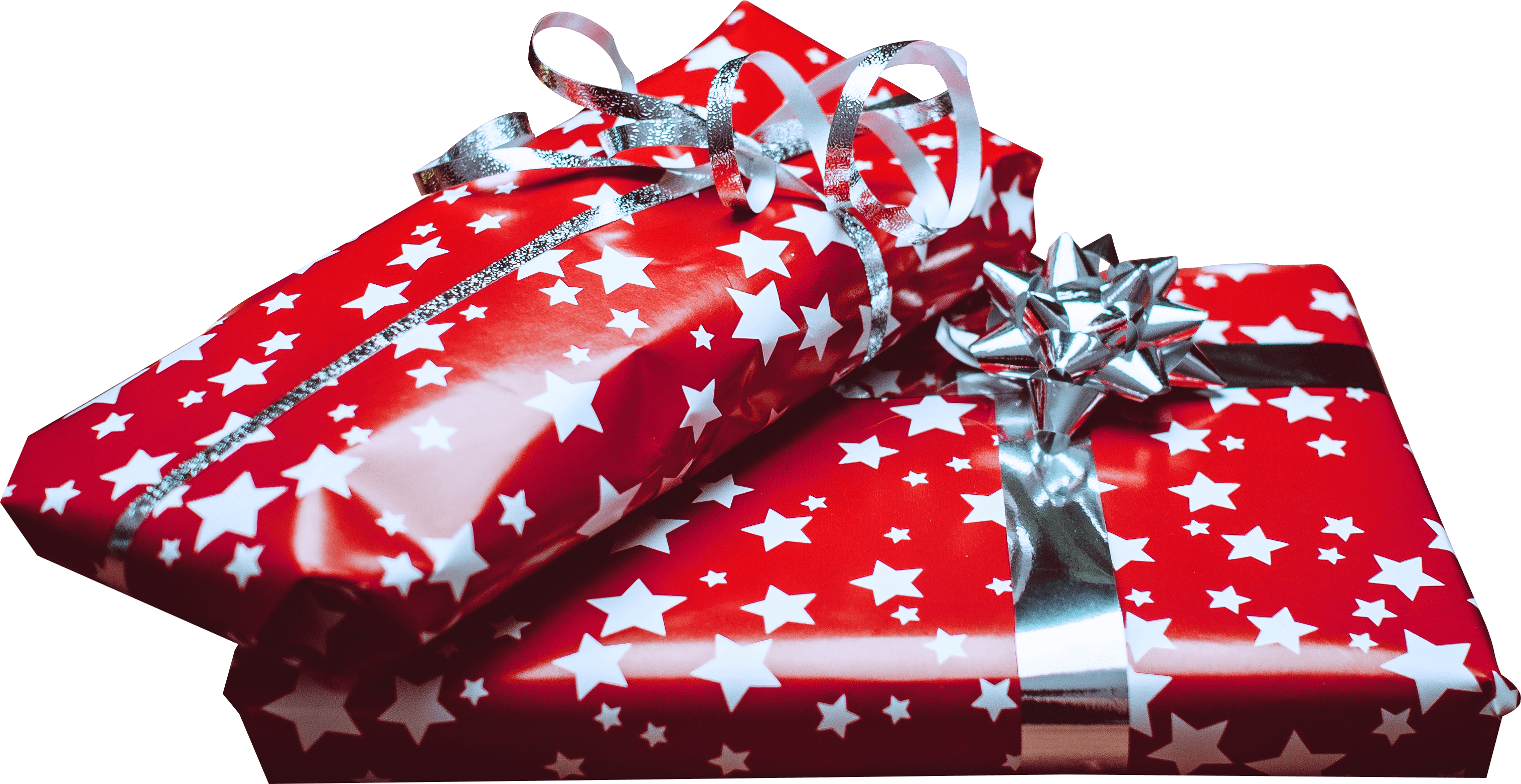 Christmas Gifts Red and Stars transparent PNG - StickPNG