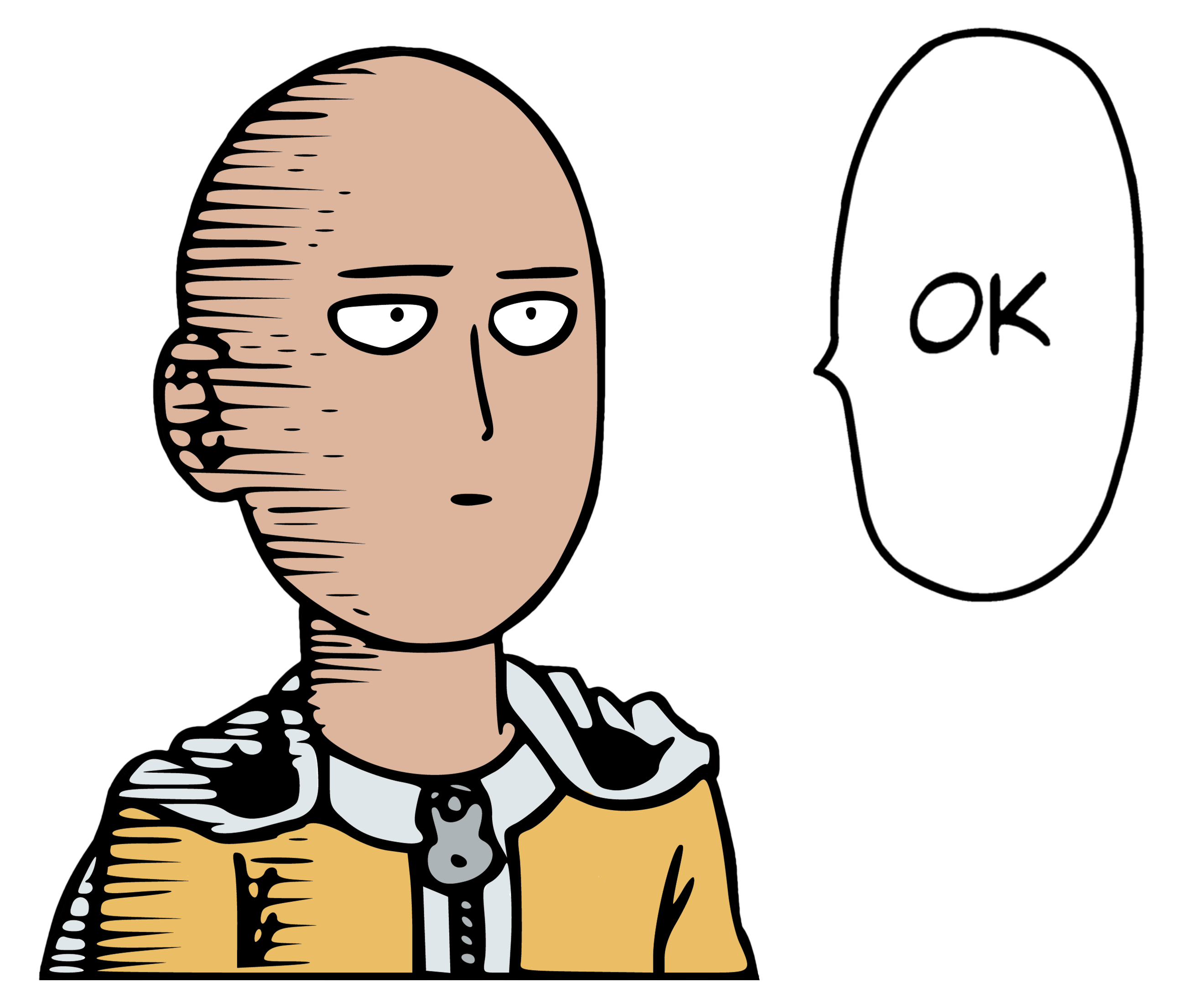 Download One Punch Man - Saitama Ok Color transparent PNG
