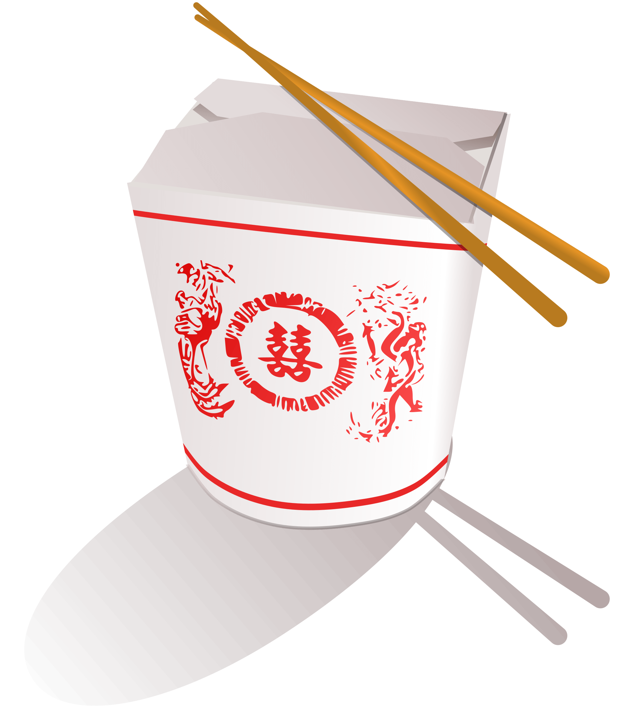 Chinese Food Box Clipart