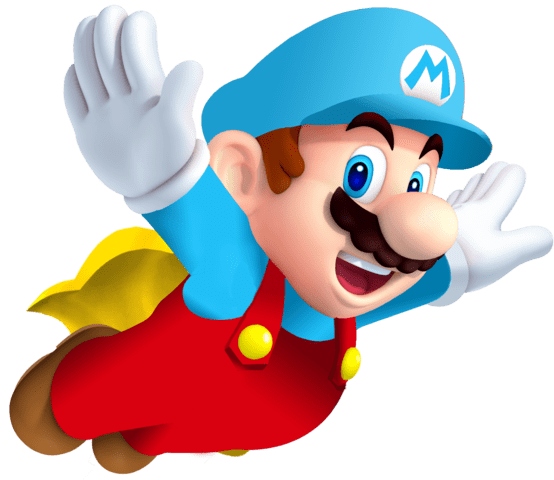 Ice Mario con Capa PNG transparente - StickPNG