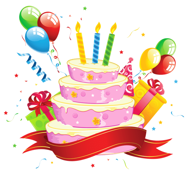 Happy Birthday Party Cake Transparent Png Stickpng