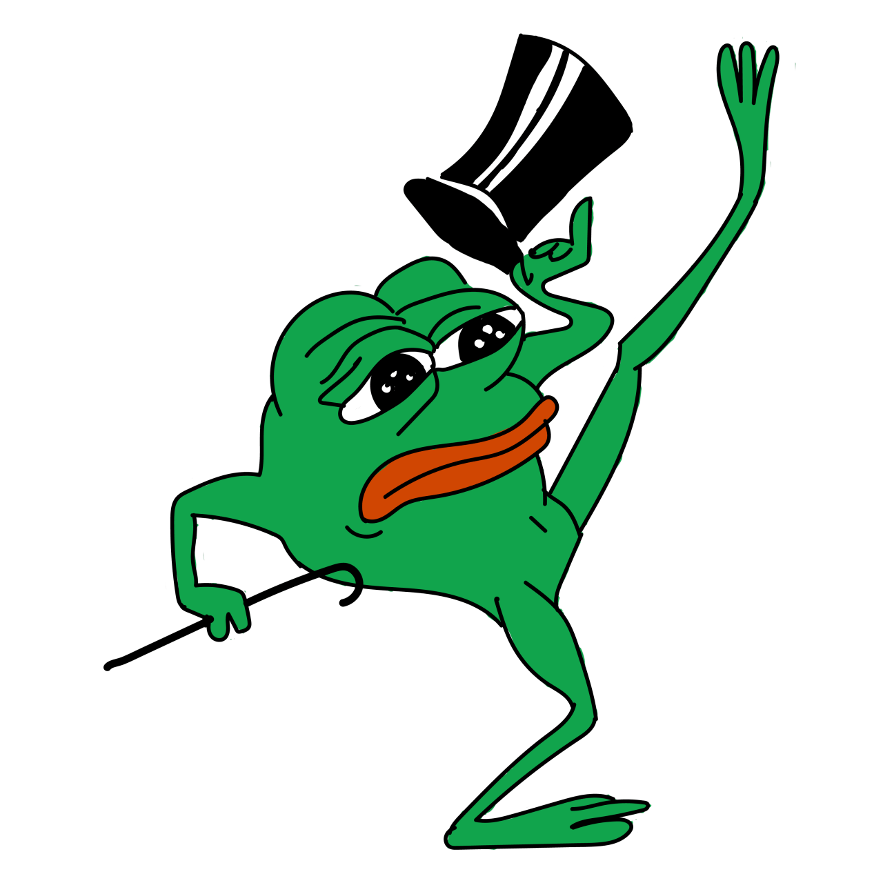 Sad Pepe Dancing transparent PNG StickPNG