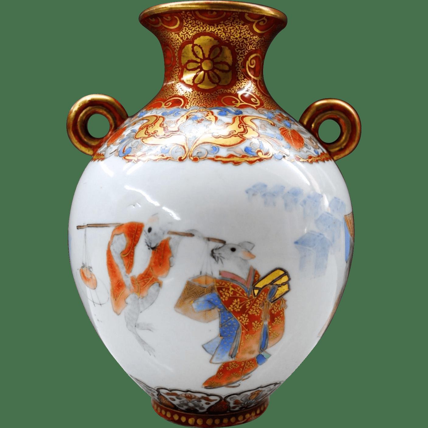 Antique kutani porcelain vase transparent png stickpng antique kutani porcelain vase reviewsmspy