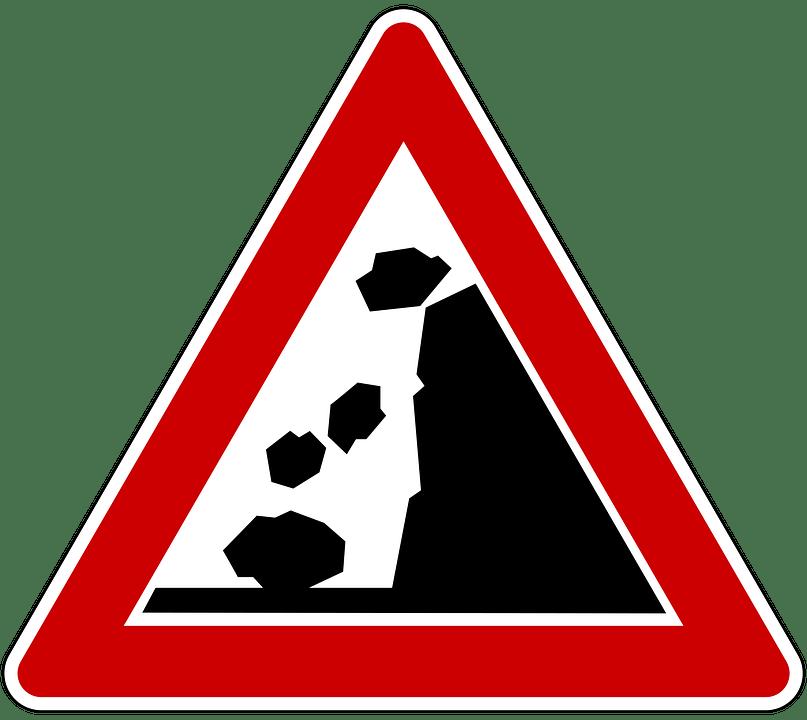 Perill per despreniments a la carretera