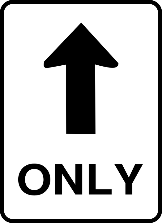 One Way Street Road Sign Transparent Png Stickpng