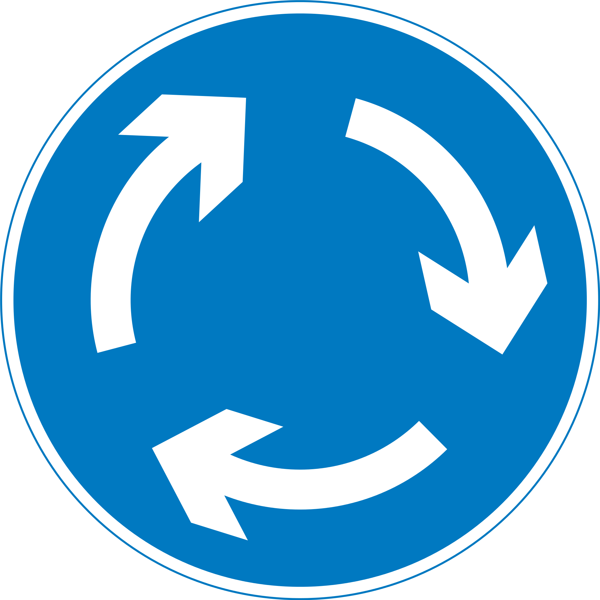 roundabout road sign transparent png stickpng